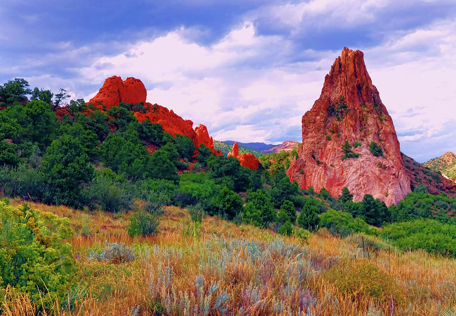 Sandstone Rock Formation In The Garden Of The Gods In Colorado Photograph