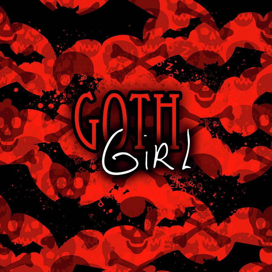 Goth Girl Graphic by Roseanne Jones