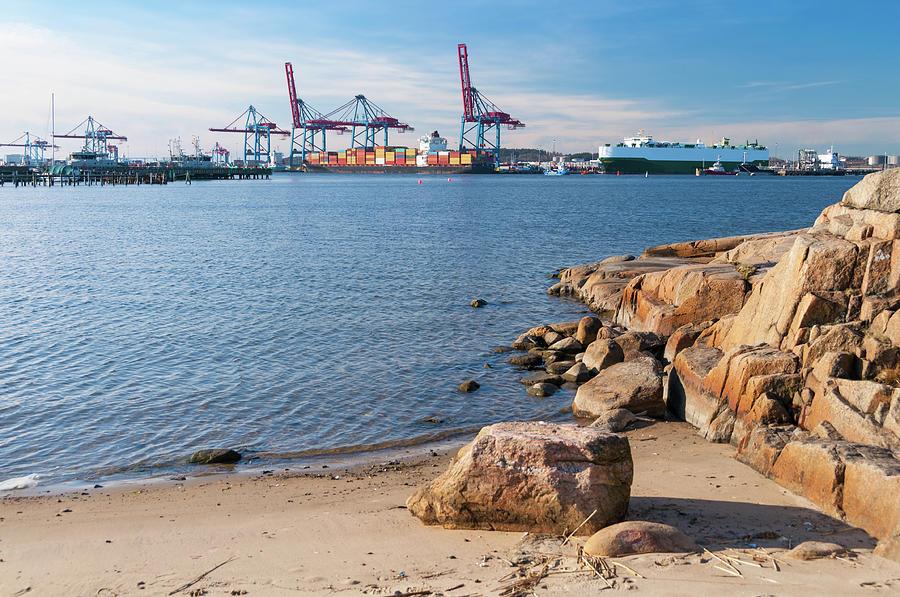 Gothenburg Harbor Photograph by Martin Wahlborg