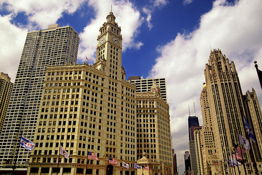 Gothic American Downtown Chicago Photograph by Pastorscott
