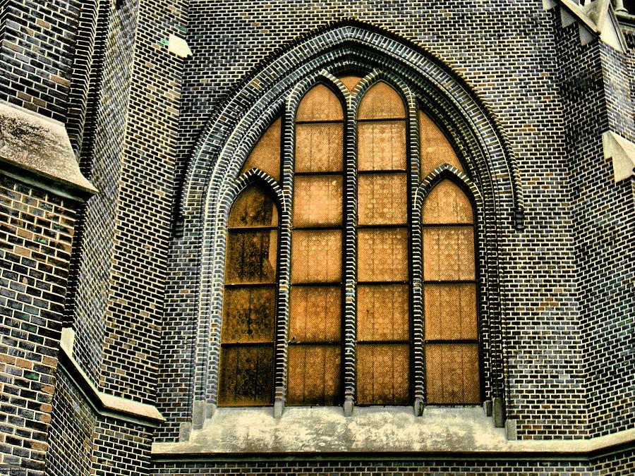 Gothic Church Window Photograph