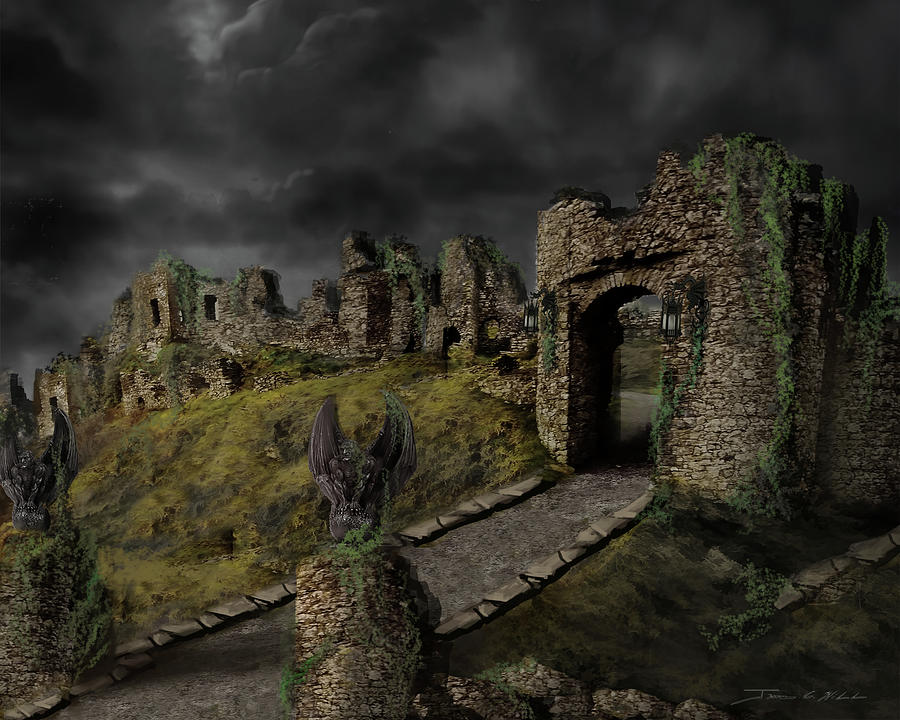 Gothic Ruins I by James Christopher Hill