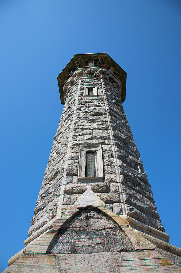 Gothic Style Stone Lighthouse Built Photograph by Barry Winiker