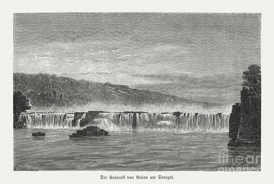 Gouina Falls, Senegal River, Mali, Wood Digital Art by Zu 09