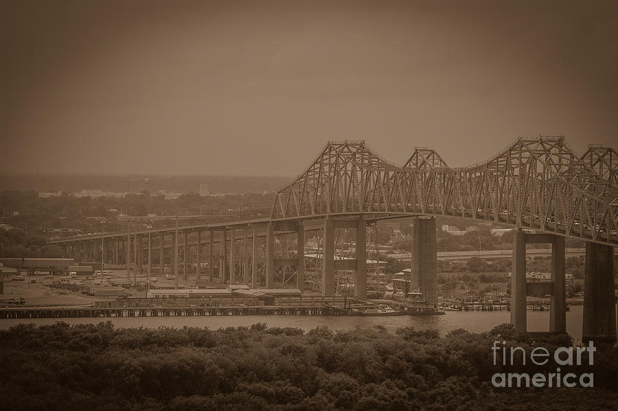 Grace And Pearman Bridges - Charleston South Carolina Photograph