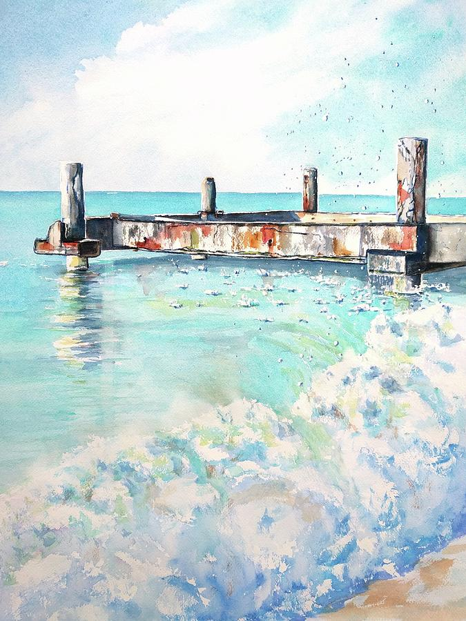 Grace Bay Old Dock by Carlin Blahnik CarlinArtWatercolor