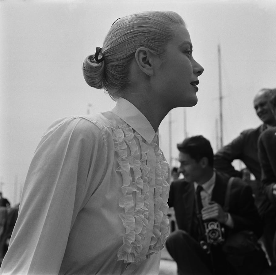 Grace Kelly In Italy Photograph by Reporters Associes