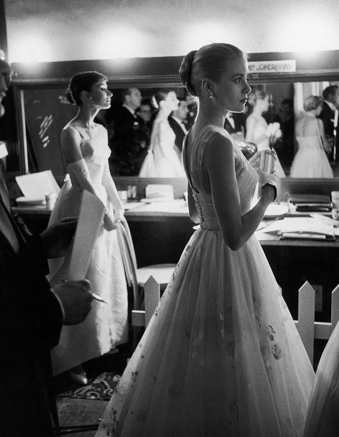 Grace Kellyaudrey Hepburn Photograph by Allan Grant