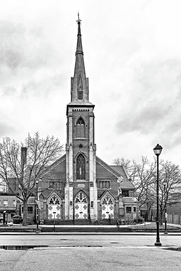 Grace Methodist Church 1888 Bw Photograph