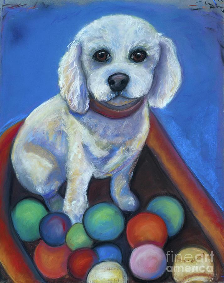 Pets Pastel - Gracies Got Balls by Ann Hoff