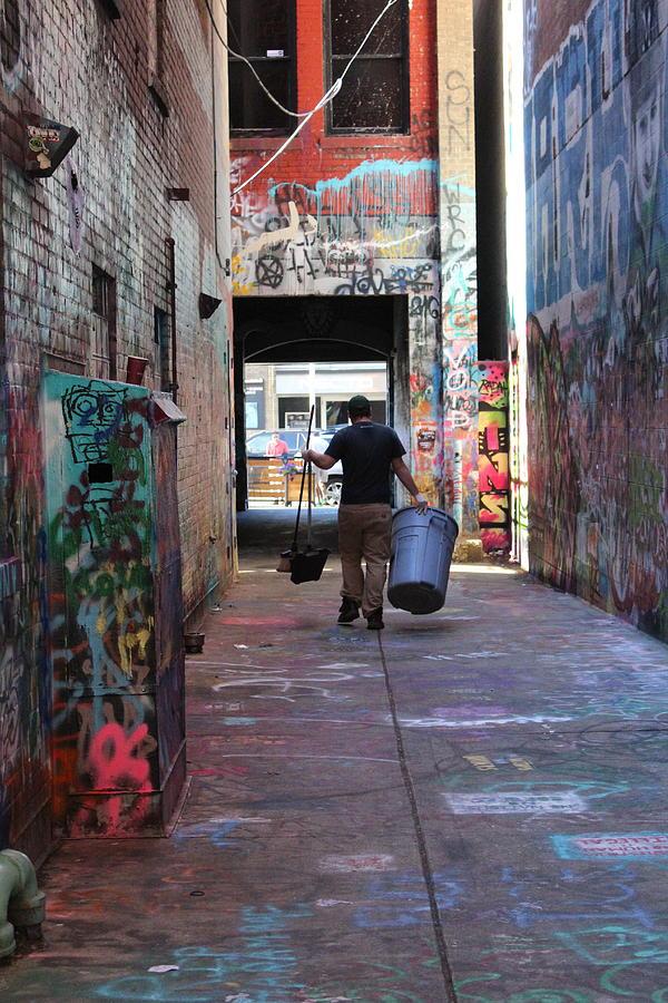 Ann Arbor Photograph - Graffiti Alley by Callen Harty