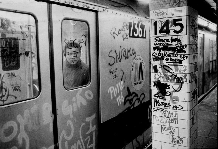 Graffiti Covers Platform And Subway At Photograph by New York Daily News Archive
