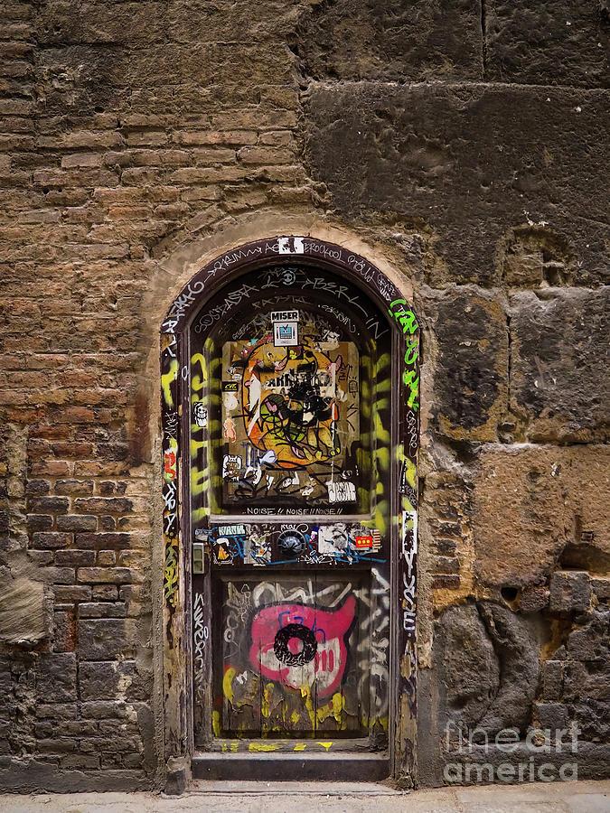 Graffiti Door Barcelona by Mary Capriole