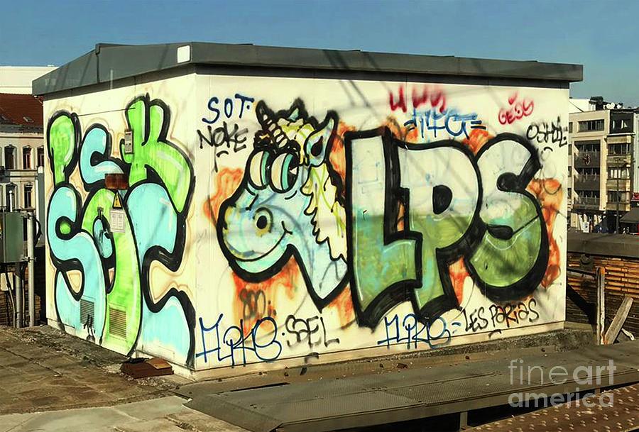 Graffiti Riding The Rails by Doc Braham