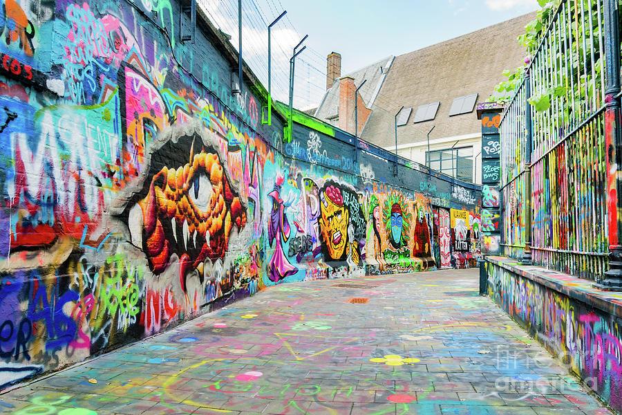 Graffiti Street, Gent, Belgium by Fine Art On Your Wall