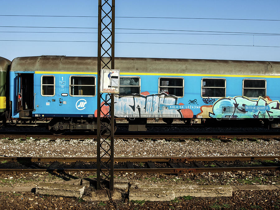 Graffitied Train by Edward Lee