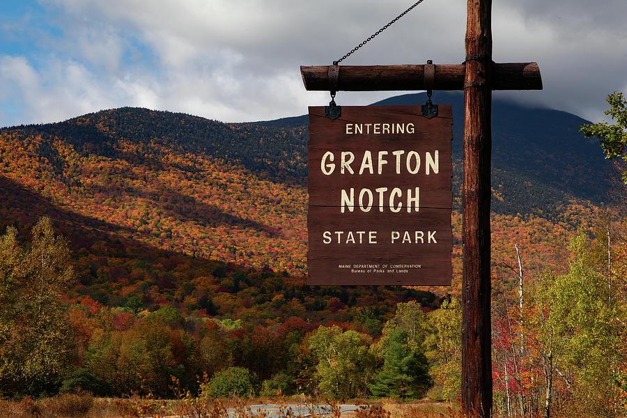 Grafton Notch State Park fall foliage by Jeff Folger
