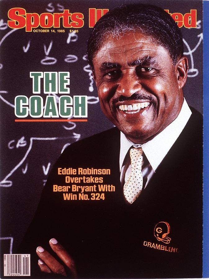 Grambling State University Coach Eddie Robinson Sports Illustrated Cover Photograph by Sports Illustrated