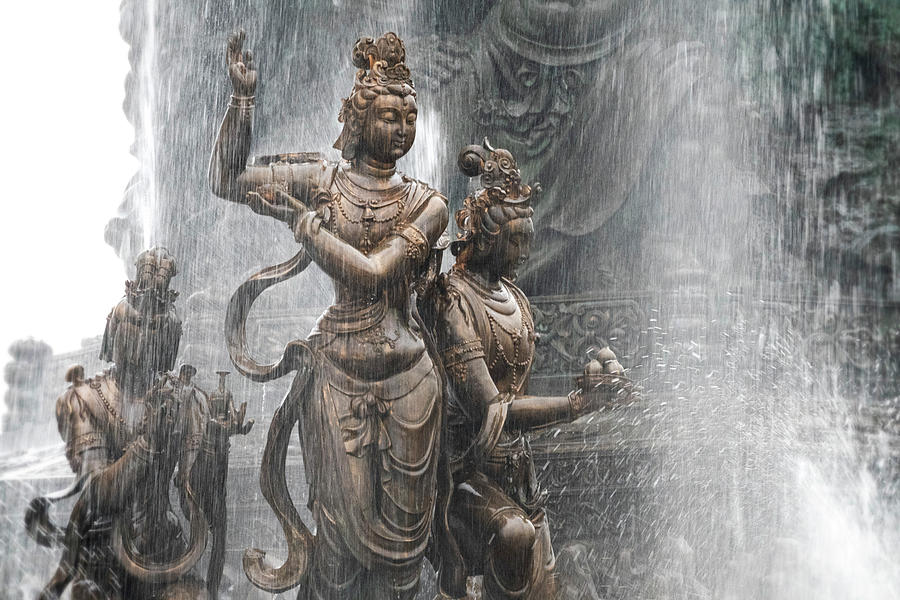 Grand Buddha Fountain by Kathryn McBride