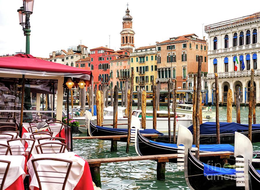 Grand Canal Scene Venice by John Rizzuto