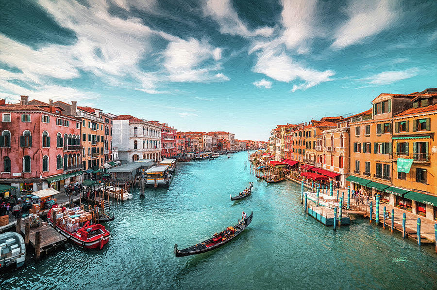 Grand Canal Venice with Gondolas by Dean Wittle