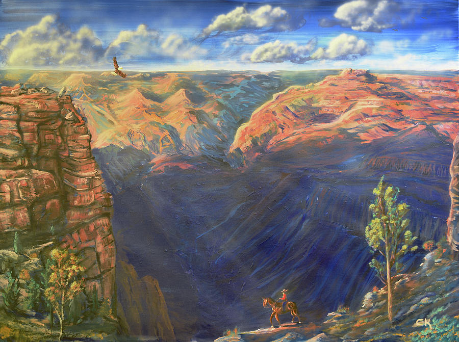 Grand Canyon and Mather Point by Chance Kafka