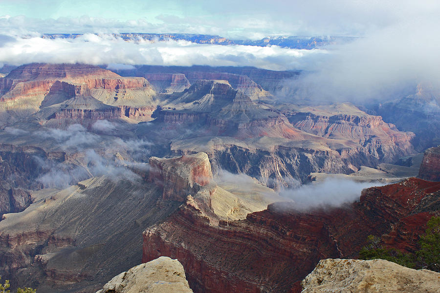 Grand Canyon as the Clouds Part by Elizabeth Rose