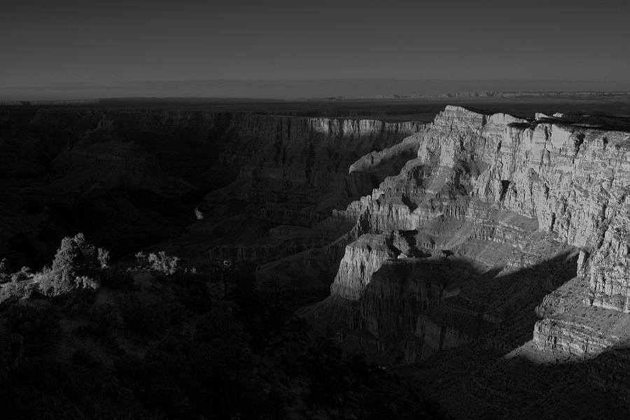 Grand Canyon Black and White, Desert View Point  by Chance Kafka