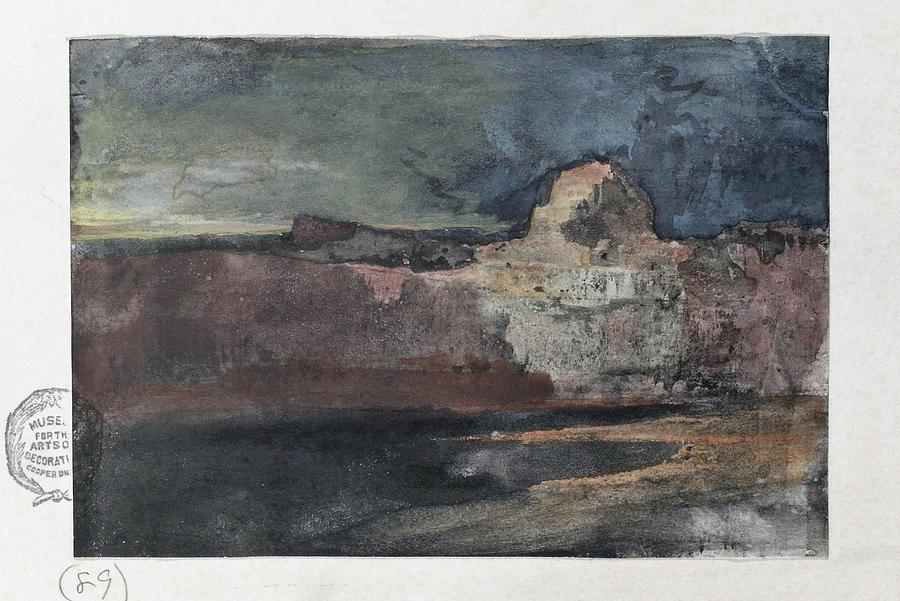 Thomas Moran Painting - Grand Canyon In Stormy Weather, Arizona - Digital Remastered Edition by Thomas Moran