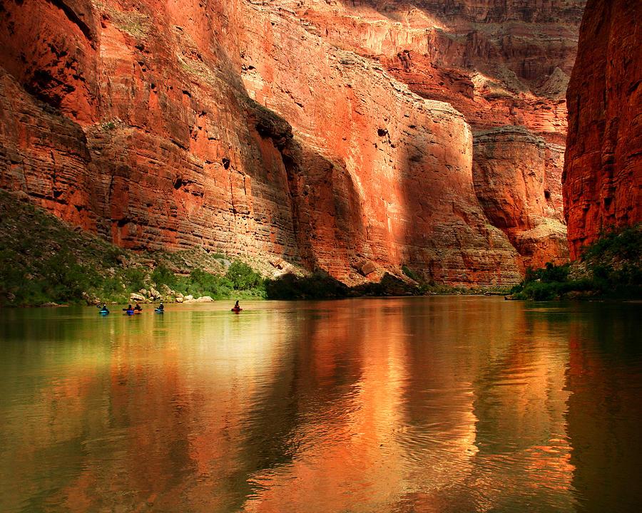 Grand Canyon Kayakers Photograph by Sarahneal