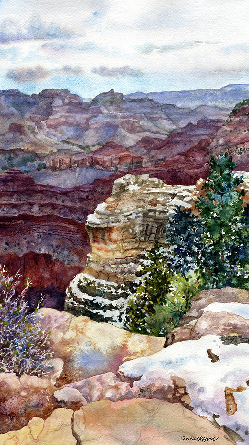 Grand Canyon Winter Day by Anne Gifford
