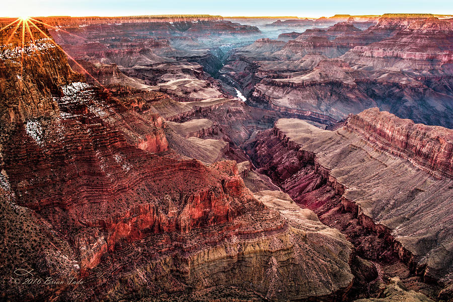 Grand Canyon Winter Sunset by Brian Tada