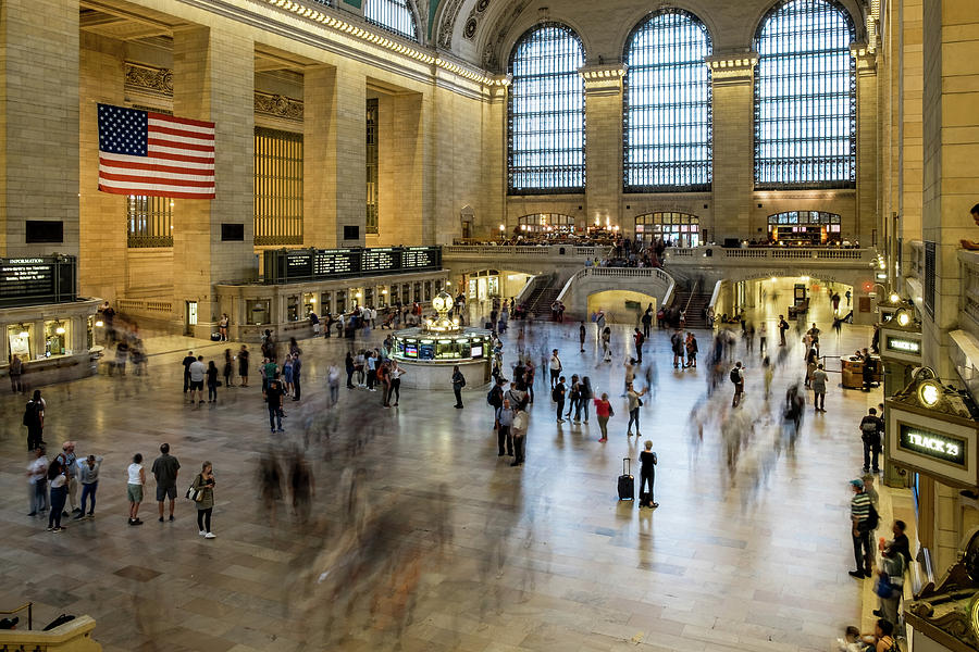 New York City Photograph - Grand Central Motion by Ian Robert Knight