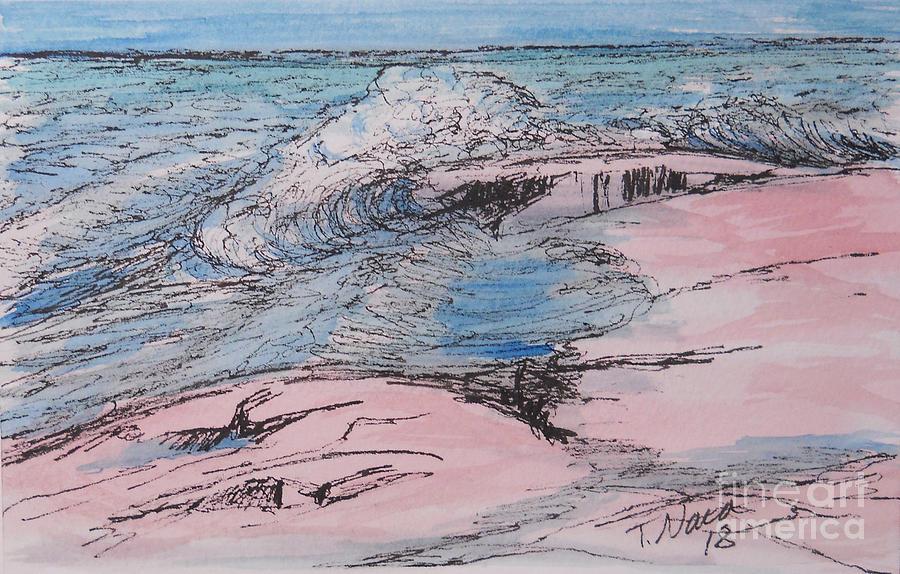 Grand Marais Drawing - Grand Marais. Artists Point by Tammy Nara