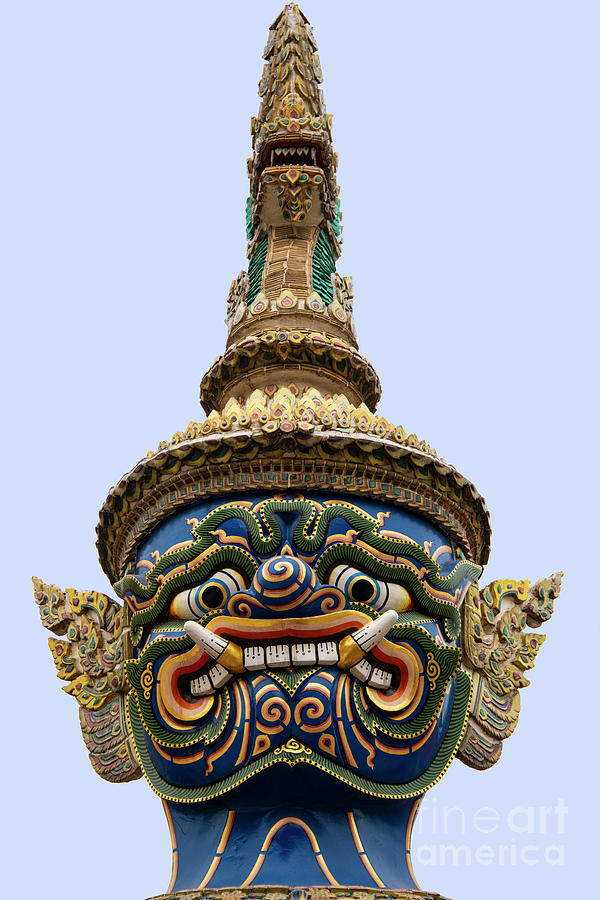 Grand Palace Blue Faced Guardian by Bob Phillips