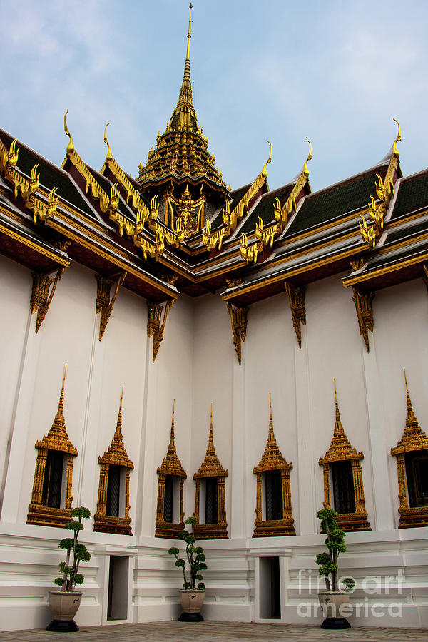 Grand Palace Dusit Maha Prasat Throne Hall Windows by Bob Phillips