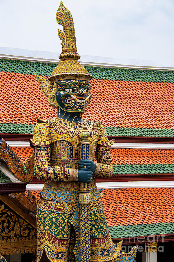 Grand Palace Green Faced Guardian by Bob Phillips