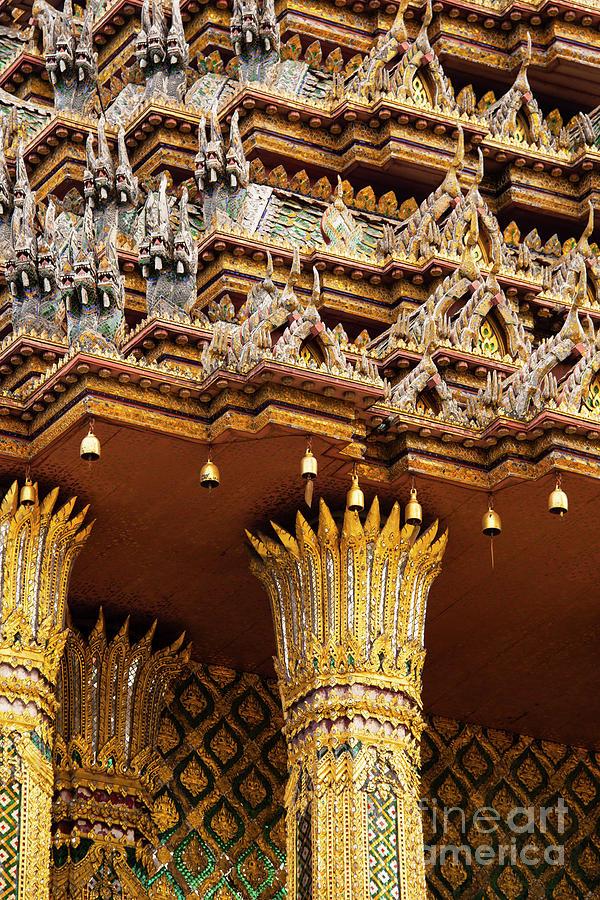 Grand Palace Temple Mini-Naga and Columns by Bob Phillips