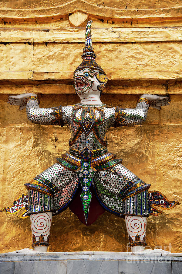 Grand Palace Temple Yaksha by Bob Phillips