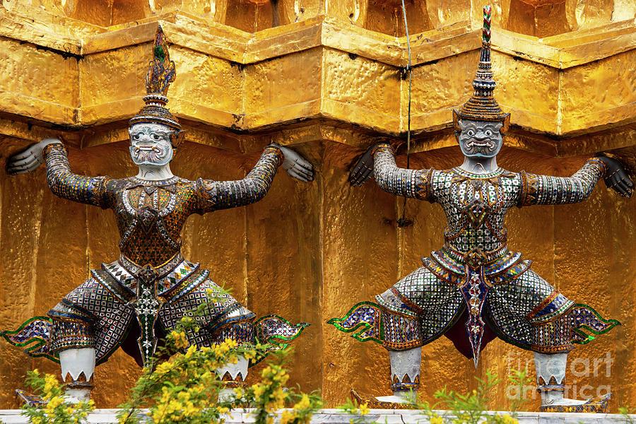 Grand Palace Temple Yakshas by Bob Phillips