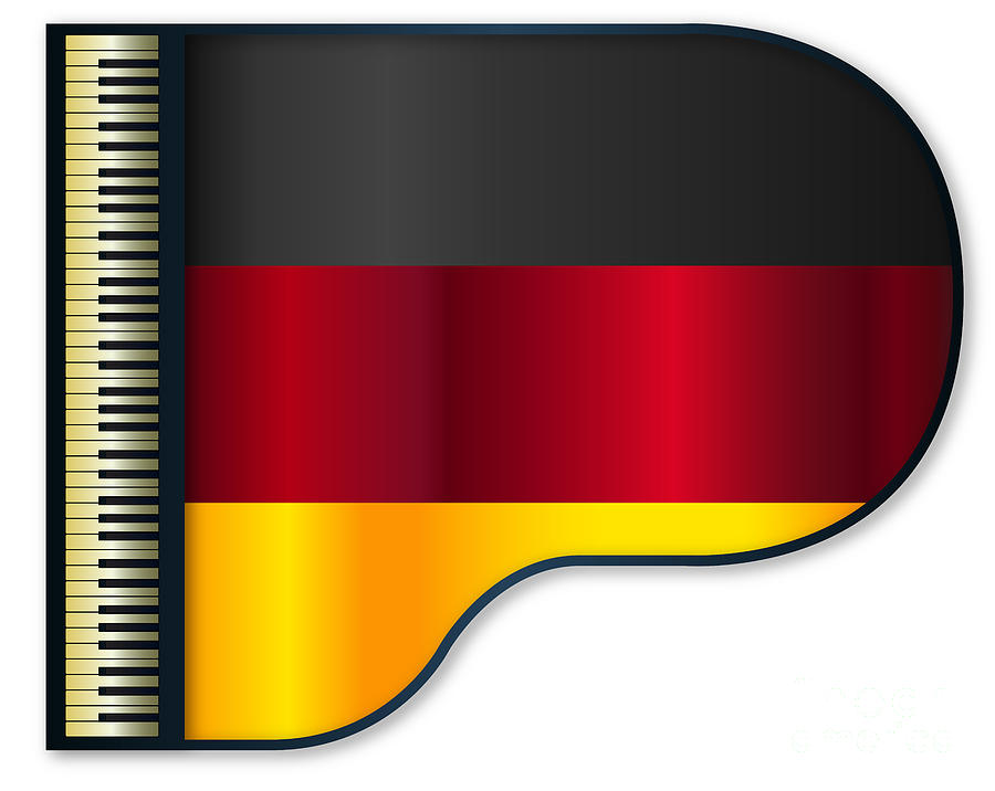 Grand Digital Art - Grand Piano Germany Flag by Bigalbaloo Stock
