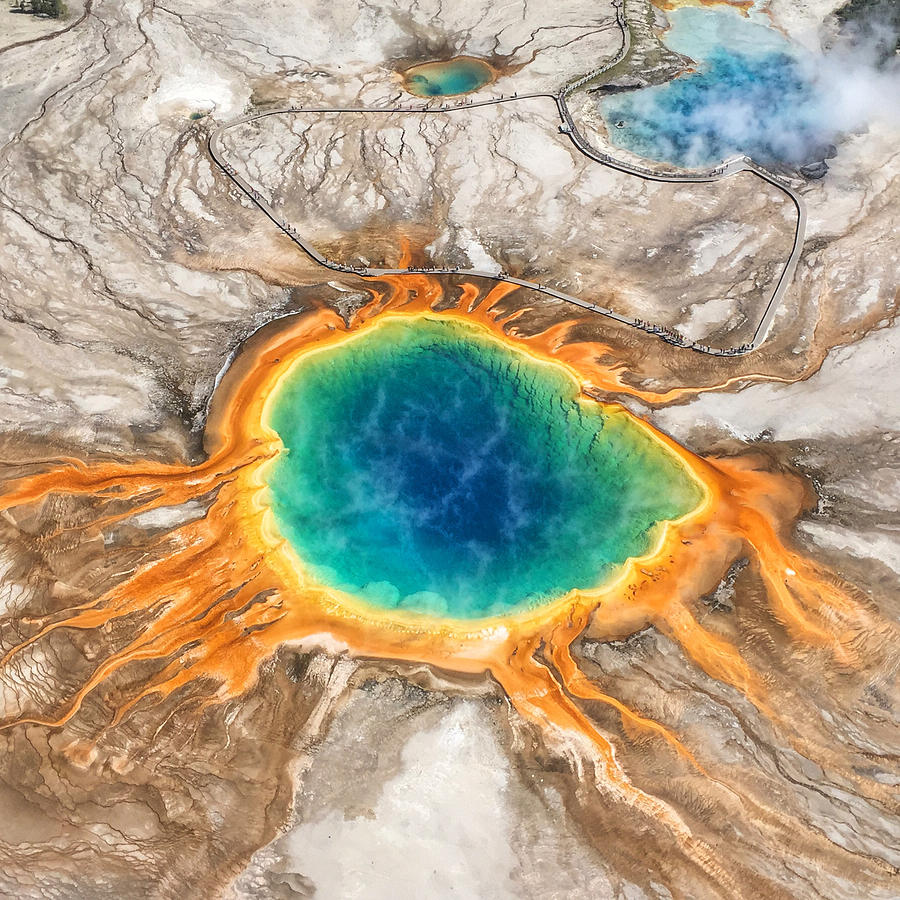 Yellowstone Photograph - Grand Prismatic Hot Springs by Jan Hicks