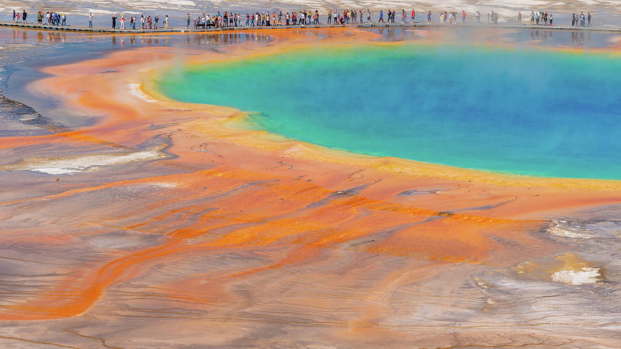 Grand prismatic hot spring  by Asif Islam