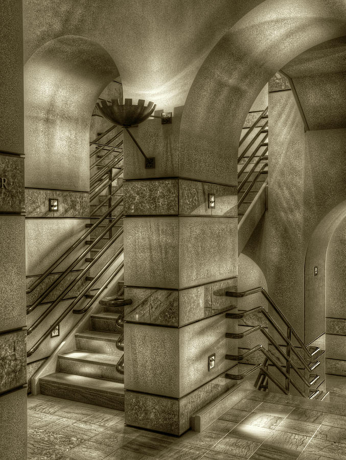 Grand Staircase, St. Louis Museum of Art by Michael Kirk