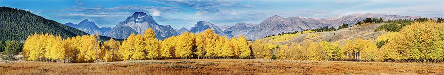 Grand Teton Autumn Pano by Vishwanath Bhat