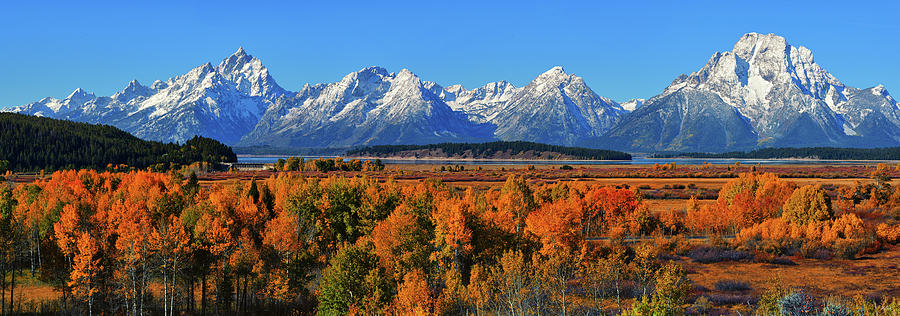 Grand Teton National Park Autumn Panorama by Greg Norrell
