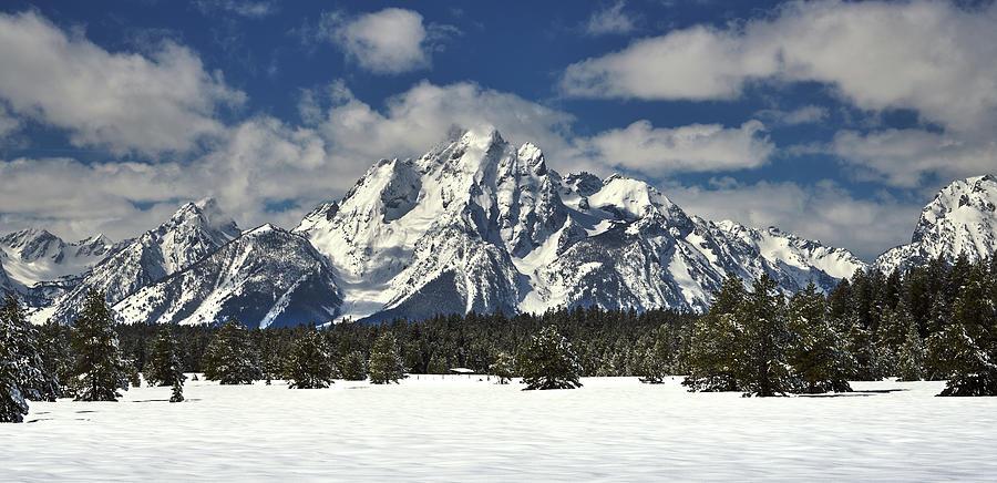 Grand Teton Peak in Winter by TL Mair
