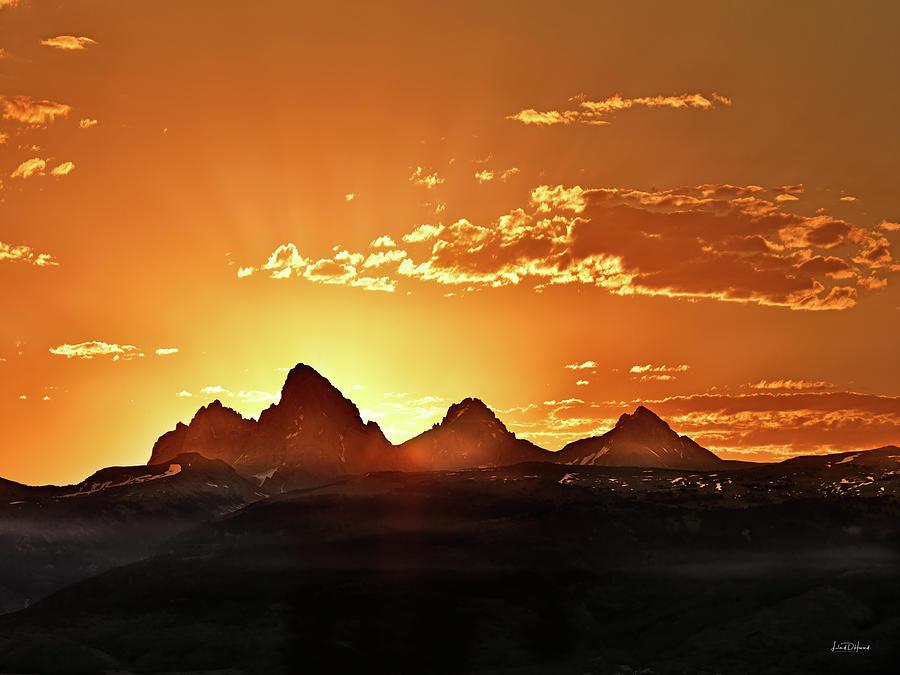 Altitude Photograph - Grand Teton Sunrise by Leland D Howard