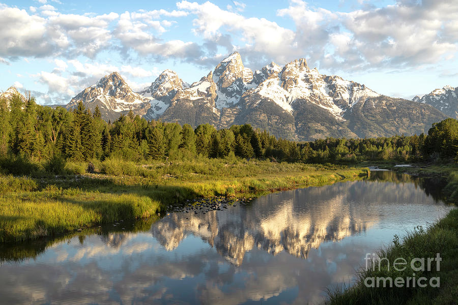 Grand Tetons in Schwabacher Landing by Ronda Kimbrow