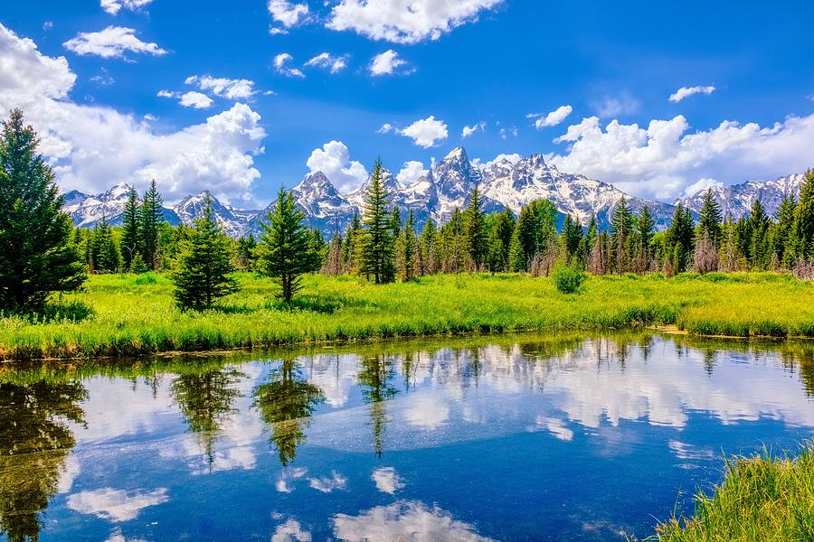Grand Tetons Reflection by Philip Duff